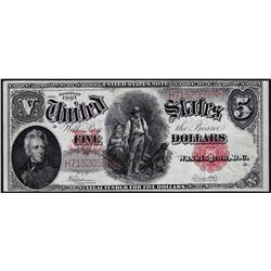 1907 $5 Legal Tender Woodchopper Note
