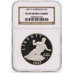 1997-S $1 Jackie Robinson Commemorative Silver Dollar Coin NGC PF69 Ultra Cameo
