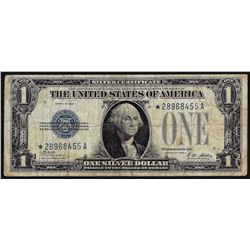 1928 $1 Silver Certificate Funnyback STAR Note
