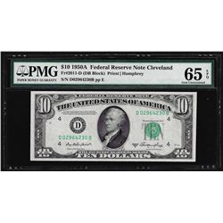 1950A $10 Federal Reserve Note Cleveland Fr. 2011-D PMG Gem Uncirculated 65EPQ