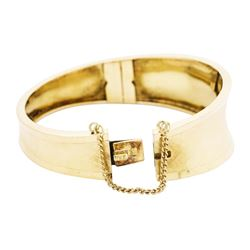 18KT Yellow Gold Tapered Bangle Bracelet