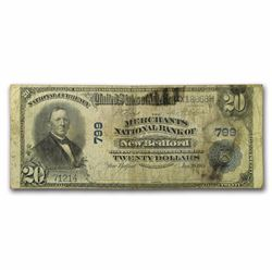 1902 $20 New Bedford Currency Note