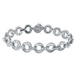 14KT White Gold 3.95ctw Diamond Bracelet