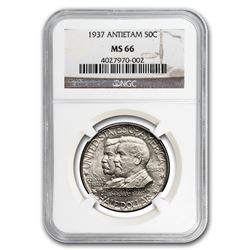 1937 Antietam Half Dollar Coin NGC MS66