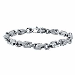 14KT White Gold 4.03ctw Diamond Bracelet