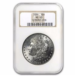 1899 $1 Morgan Silver Dollar Coin NGC MS65