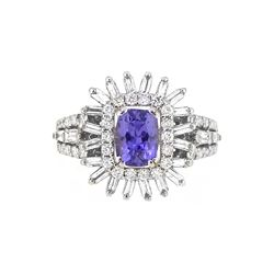18KT White Gold 1.47ct GIA Cert Sapphire and Diamond Ring