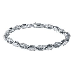 14KT White Gold 3.43ctw Diamond Bracelet