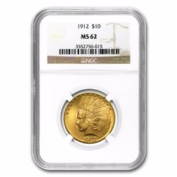 1912 $10 Liberty Head Eagle Gold Coin NGC MS62