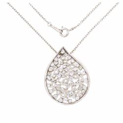 18KT White Gold 1.16ctw Diamond Pendant with Chain