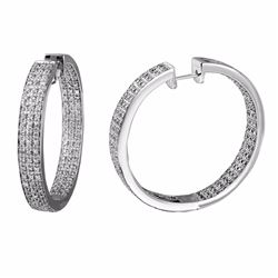 14KT White Gold 2.15ctw Diamond Earrings