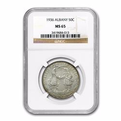 1936 Albany Commemoritve Half Dollar Coin NGC MS65