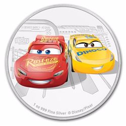 2017 $2 Cars Lightening McQueen and Cruz Ramirez Niue Silver Coin