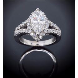 14KT White Gold 1.14ct GIA Cert Diamond Ring