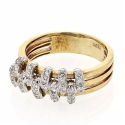 18KT Two Tone Gold 0.36ctw Diamond Ring