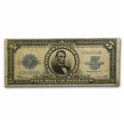 1923 $5 Lincoln Porthole Silver Certificate