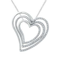 18KT White Gold 0.64ctw Diamond Pendant with Chain