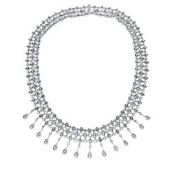 14KT White Gold 1.48ctw Diamond Necklace