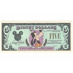 1990 $5 Disney Goofy Dollar