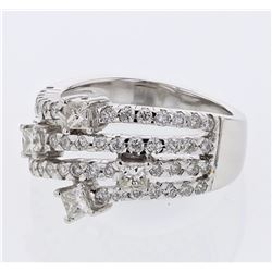 18KT White Gold 1.27ctw Diamond Ring