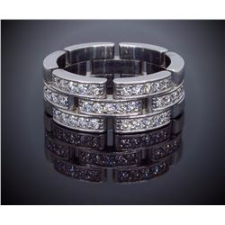 Cartier 18KT White Gold 0.53ctw Diamond Ring