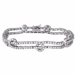 18KT White Gold 4.31ctw Diamond Bracelet