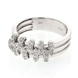 18KT White Gold 0.36ctw Diamond Ring
