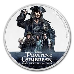 2017 $2 Disney Pirates of the Caribbean Niue Silver Coin