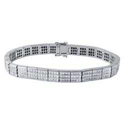 14KT White Gold 7.58ctw Diamond Bracelet