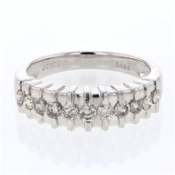 Platinum 0.59ctw Diamond Wedding Band