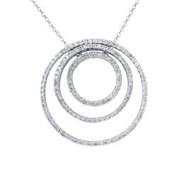 14KT White Gold 1.87ctw Diamond Pendant with Chain