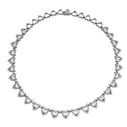 14KT White Gold 9.85ctw Diamond Necklace