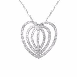 14KT White Gold 0.84ctw Diamond Pendant with Chain