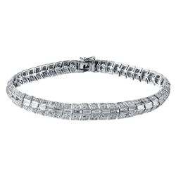 14KT White Gold 4.97ctw Diamond Bracelet