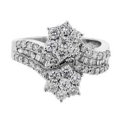 18KT White Gold 1.42ctw Diamond Ring