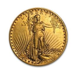 1909/8 $20 Saint Gaudens Double Eagle Gold Coin