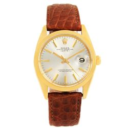 Rolex 14KT Yellow Gold Datejust Mens Wristwatch
