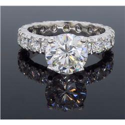 14KT White Gold 5.05ctw Diamond Ring