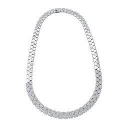18KT White Gold 3.75ctw Diamond Necklace