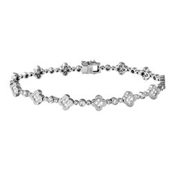 14KT White Gold 1.35ctw Diamond Bracelet