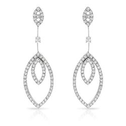 18KT White Gold 2.28ctw Diamond Earrings