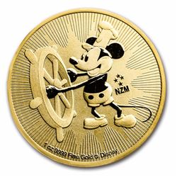2017 $250 Disney Steamboat Willie Niue 1 oz Gold Coin