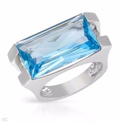 14KT White Gold 14.33ctw Blue Topaz Ring