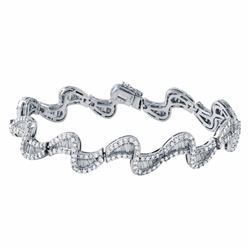 18KT White Gold 5.18ctw Diamond Bracelet