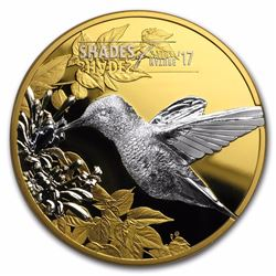 2017 $5 Shades of Nature Hummingbird Silver Coin