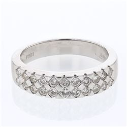 Platinum 0.61ctw Diamond Wedding Band