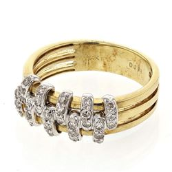 14KT Two Tone Gold 0.36ctw Diamond Ring