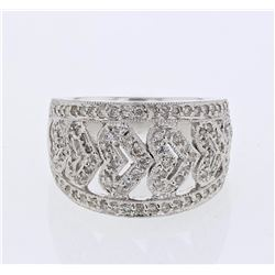 14KT White Gold 0.58ctw Diamond Ring