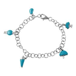 14KT White Gold 3.17ctw Turquoise and Diamond Bracelet