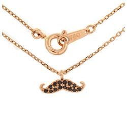 18KT Rose Gold Diamond Pendant with Chain
